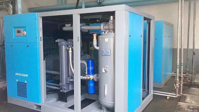 德哈哈节能螺杆空压机在某玻璃制品有限公司的